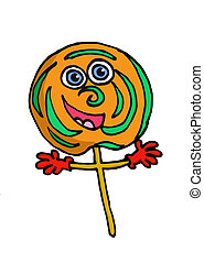 A cartoon lolipop