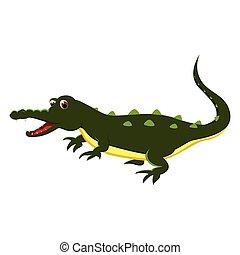 A cartoon of an Crocodile