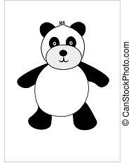 A cartoon panda vector