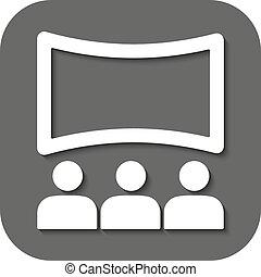 a, casa filme, icon., teatro, e, mostrar, cinema, apresentação, símbolo., apartamento