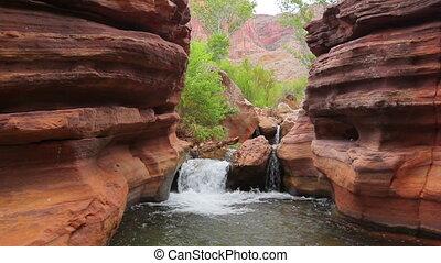 A cascade at the Grand Canyon