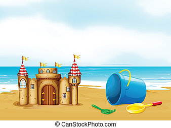 A castle at the beach