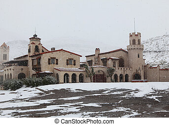 A castle in the snow