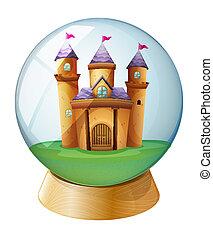 A castle inside a crystal ball