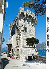 A castle tower in Korcula city, Croatian