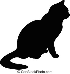 a cat silhouette vector