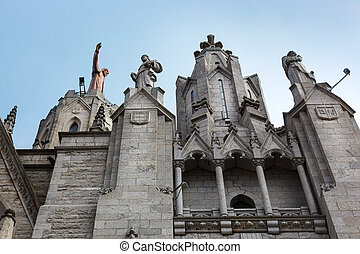 a cathedral in Barcelona
