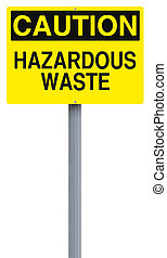 Hazardous Waste - A caution sign indicating Hazardous Waste