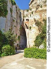 Ear of Dionysius in Syracuse Sicily