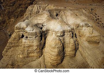 a, cavernas, de, qumran