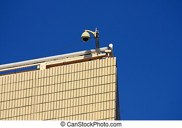 a cctv on the top of building
