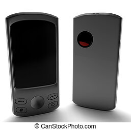 A cell phone isolated on white 3d render