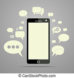 cellphone - a cellphone chat concept