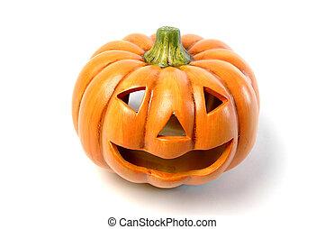 halloween - a ceramic halloween jack o lantern  pumpkin