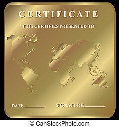 a, certificado