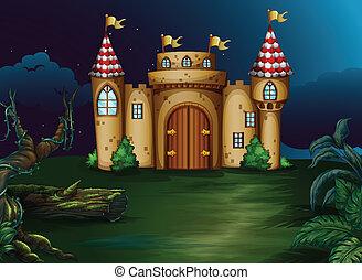 a, château, à, les, forêt