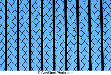 Chainlink fence background texture