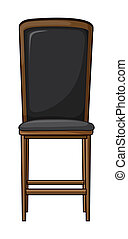 A chair - Illustration of a chair on a white background