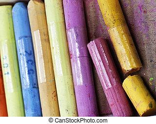 chalks closeup beautiful background