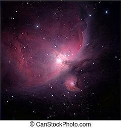 a, chama, nebulosa