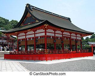 Inari Shrine - A characteristic wooden building from Inari...