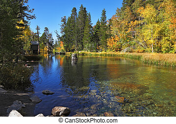 A charming mountain lake in California