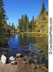 A charming mountain lake