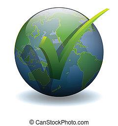 A check mark world