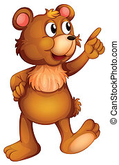 A cheerful bear