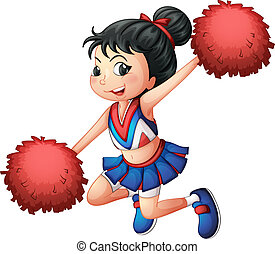 A cheerleader dancing