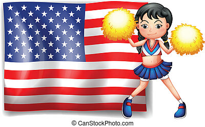 A cheerleader from the USA