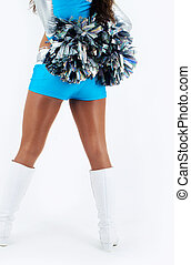 A cheerleader with pom-poms - Picture of a cheerleader with...