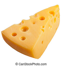 A cheese isolated on a white background.