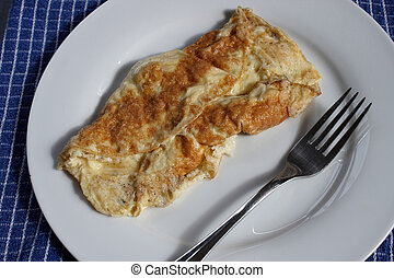 A cheese omelette