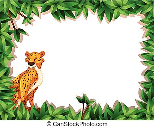 A cheetah in nature frame