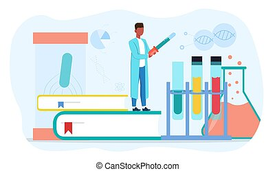 A chemist conducts a scientific experiment - A chemist ...