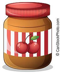 A cherry jam