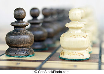 a chess piece on the Board