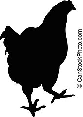 a chicken silhouette vector