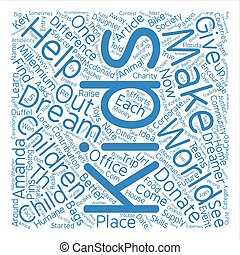 A Child Can Make a Difference text background word cloud ...