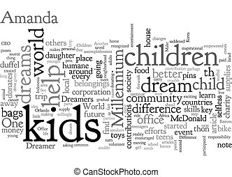 A Child Can Make a Difference text background wordcloud ...