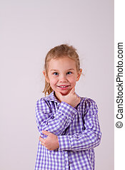 A child portrait isolated on clear white background