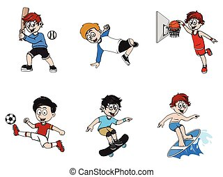 a child sport illustration design