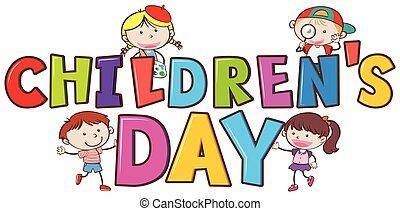 A children's day logo