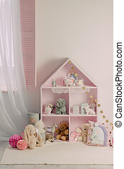 a children's room with toys safe