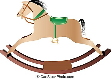 Rocking Horse - A Childs Rocking Horse isolated on white