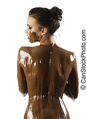 a, chocolate, menina