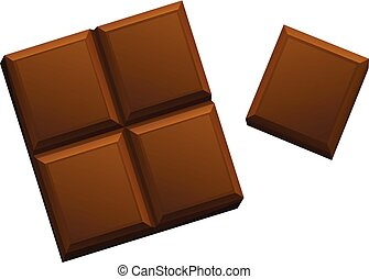A Chocolate on White Background