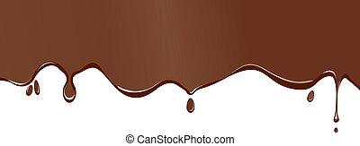 chocolate splodge - A chocolate splodge background