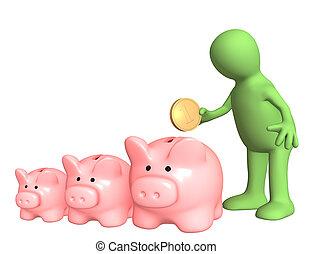Conceptual image - a choice of bank account